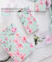 HD Roze Bloem Magneet Lederen Case Flip Cover Voor iPad Pro 9.7