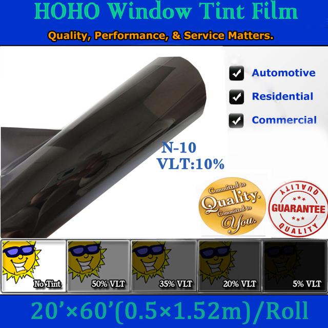 60*20 Pulgadas corea auto ventana película tinte de la ventana del coche película protectora N10