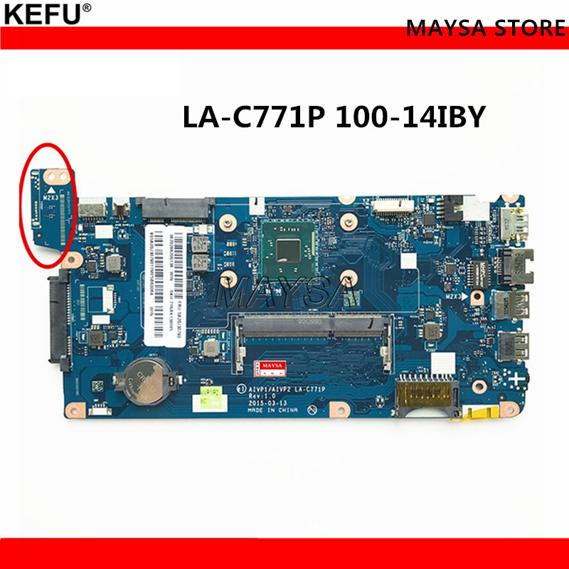 Laptop Motherboard Fit For Lenovo 100-14IBY Mainboard LA-C771P N2840 / N2830 Processor DDR3L full tested free shipping