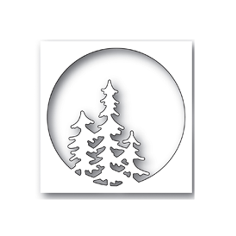 Circle Oval Trees Pattern Metal Cutting Dies Stencil For