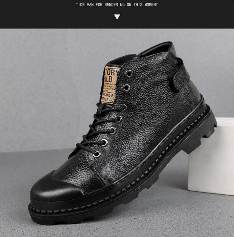 326bd48ce791f 47 Casual Taille De Backcamel Coton Hommes Top Chaussures 2018 Hiver  Vachette 38 En Automne Black Single Bottes ...
