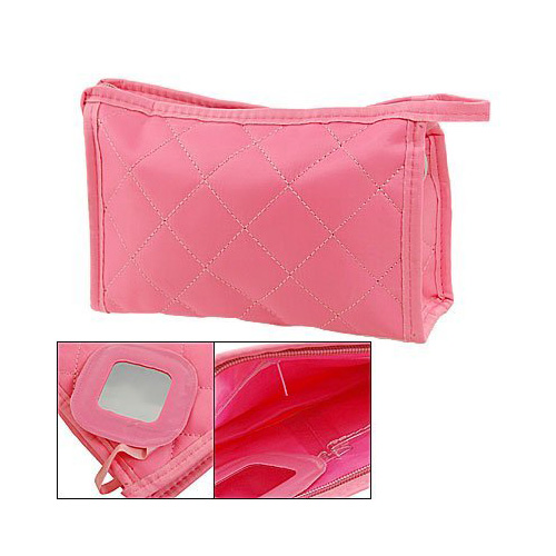 NEWBRAND Women Cosmetic Bag makeup Pouch Portable Travel Beauty Organizer with mirror