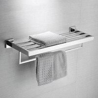 Ванная комната площадь Ванна Полотенца стойки Нержавеющая сталь зеркальная полировка Chrome качество настенный Полотенца железнодорожных держатель туалетное