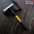 Envío gratis de dos filos de la maquinilla de afeitar mango de metal clásico uso de viaje
