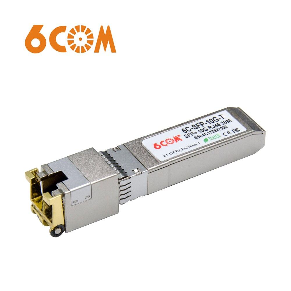 6COM für Arista 10GBase T Kompatibel SFP + 10GBase T Gigabit RJ45 Kupfer Transceiver 30 mt-in Glasfaser-Ausrüstungen aus Handys & Telekommunikation bei AliExpress - 11.11_Doppel-11Tag der Singles 1