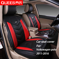 4 Colors Car Seat Cover Specifically tailored for Volkswagen polo (2011-2016) pu artificial leather Car Styling car accessories