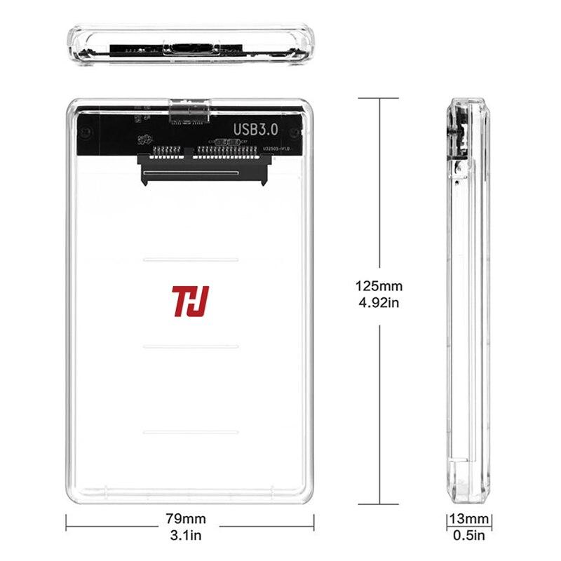 THU 2.5 Inch 2139U3 Transparent USB3.0 HDD Case Support 2TB Hard Drive Enclosure