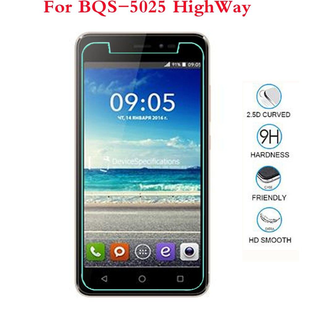Vidrio templado para BQ BQS-5070 BQS 5070 Magic 5009L 5006 Los Angeles 5025 HighWay Trend smartphone película protectora de pantalla móvil