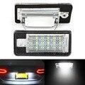 2 unids Error 18 LED Licencia Luz Matrícula Coche de Luz Auto Bombillas para Audi A3 S3 A4 S4 8E RS4 A6 C6 RS6 A8 S8 Q7
