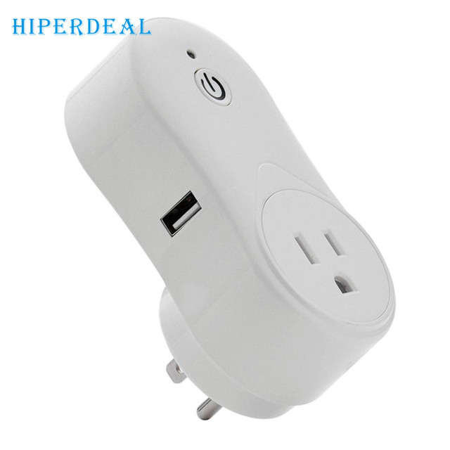 Smartphone Outlet hiperdeal new smart plug wifi outlet works with remote control