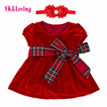 Red Baby Girls Dress Summer Styl Clothes Set Toddler Short Sleeve Suits Girls Party Vestidos 2017 Toddler Girl Clothing