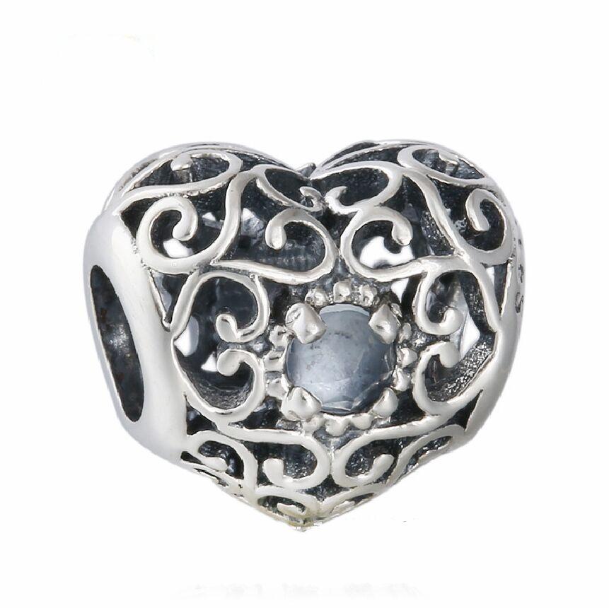 Fit Original Pandora Charms Bracelet March Birthstone Aqua