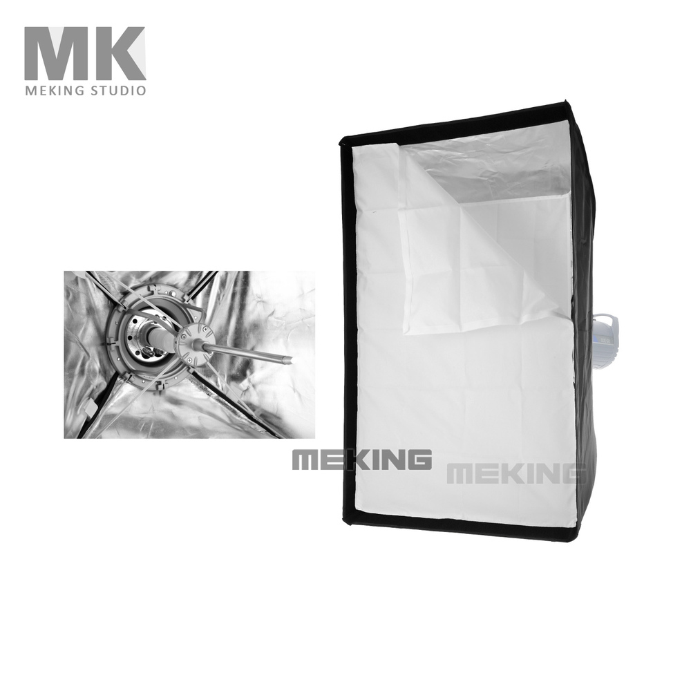 "Meking Photo Studio Lighting Softbox 80cmx120cm / 31.4""x47.2"" with Bowens Mount Quick Setup soft box Fotografia Accessories-in Photo Studio Accessories from Consumer Electronics    1"