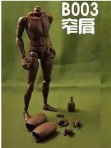 """Image 4 - חדש 1/6 זכר צר כתף עירום גוף דמות שחור Ver. B003 12 """"פעולה איור בובת צעצועי חייל דגם"""