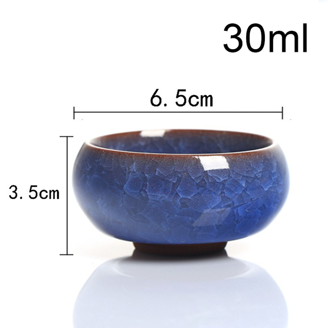 Kung Fu Tea Cup Set Crackle Glaze 6 pcs