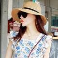 Мода Флоппи Складная Дамы Женщины Соломы Пляж Солнце Летом Hat Бежевый Один Размер Широкими Полями