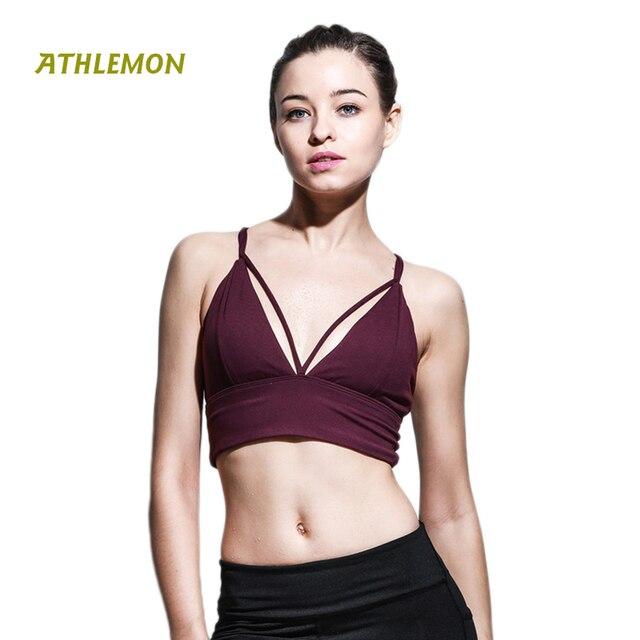 Quick Dry Breathable V-neck Women Sport Bra Cross Straped Sexy Top Feminino  Esportivo Wirefree Fitness Running Gym Yoga Bra 3e4764127642e