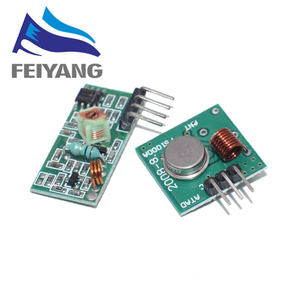 Transmissor Rf e kit módulo receptor 43Mhz, ligação para Arm/Mcu Wl diy 315 Mhz/433 Mhz controle remoto sem fio para kit arduino diy