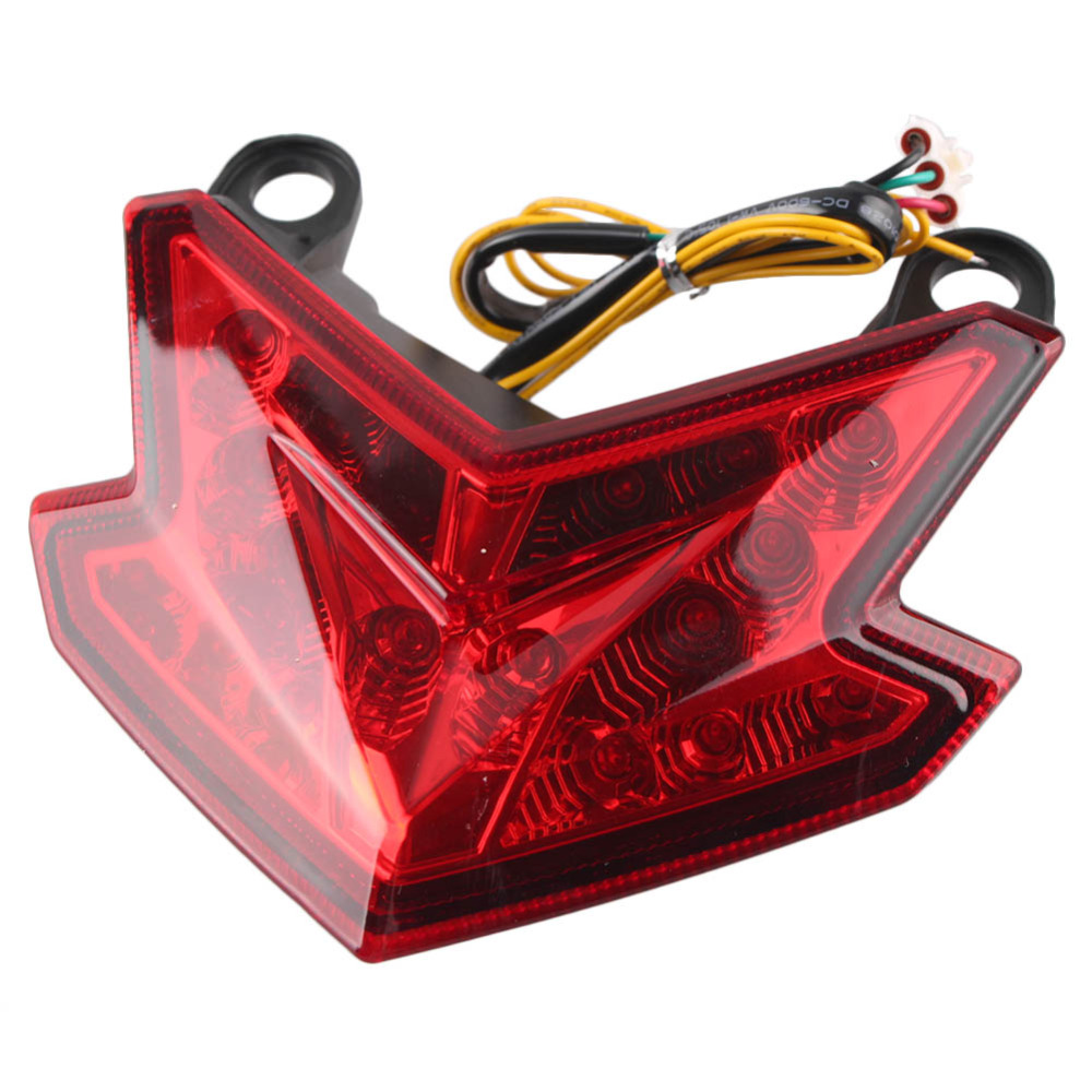 For Kawasaki Ninja ZX6R Z800 ZX-6R Integrated LED Rear Tail Light Taillight Turn Signal Turning Lamp 2013 2014 Motorbike Parts image