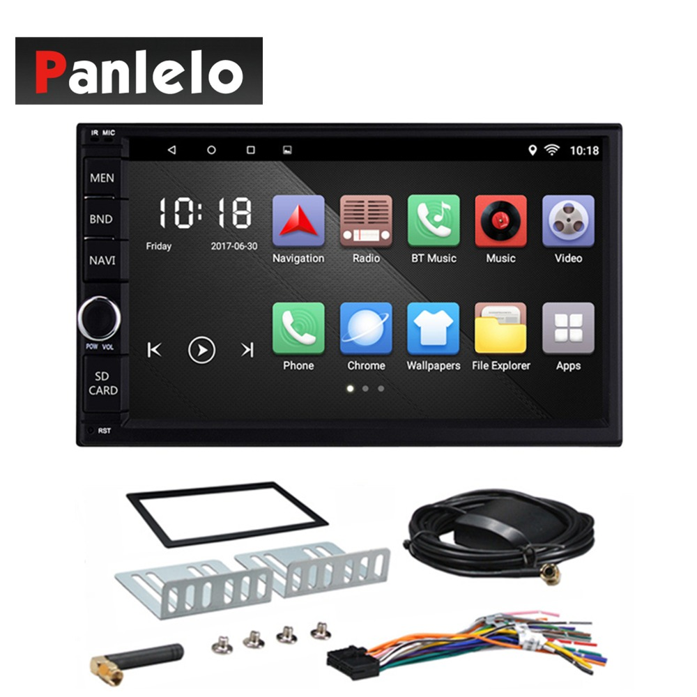 Android 6.0 Quad Core 1GB+16GB Head Unit Car Radio 7 Inch Bluetooth Wifi Mirror Link AM/FM/RDS GPS Navigation 2 Din Car Stereo universal 1 din car radio gps android quad core car styling 7 touch screen 1024 600 head unit bluetooth am fm radio car stereo