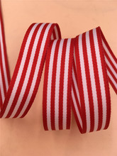 1.5CM 15mm 5/8″ Red White Stripes Ribbon Grosgrain Ribbon Set For DIY Handmade Jewelry Materials Wedding Ribbon 10Meters Lot