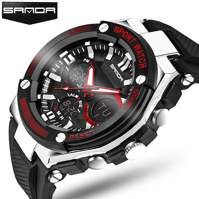 2017 Luxury Brand Mens Sports Watches Dive 50m Digital LED Military Watch Men Fashion Casual Electronics Wristwatches Hot Clock