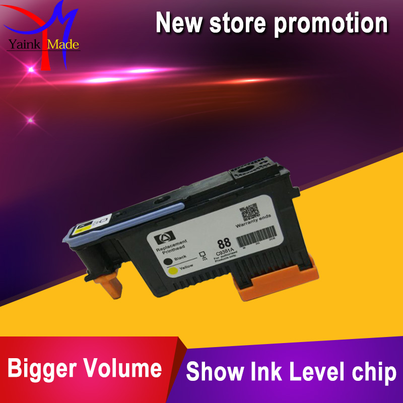 BK+Y for HP88 printhead C9381a Remanufactured For hp 88 print head K550 K5300 K5400 K8600 L7000 L7480 L7710 L7750 L7780 printer