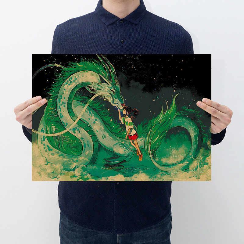 ديكور المنزل ملصقات جدار الكلاسيكية هاياو ميازاكي أنيمي جمع المشارك ريترو كرافت ورقة الملصقات 50.5x35 سنتيمتر