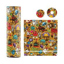 6 pcs lot Original skin for Vgod Pro Mech Mod sticker VGOD logo powered by single battery(China)