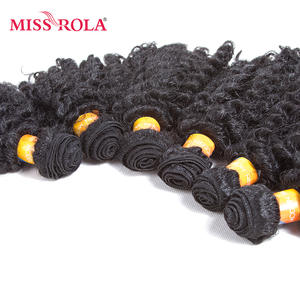 Weave Bundle Hair-Extensions Synthetic-Hair Miss-Rola Wavy for Women Short Jazz Deals