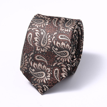 6 cm Mens Ties New Fashion Plaid Neckties Corbatas Gravata Jacquard Woven Slim Tie Business Wedding Stripe Neck For Men