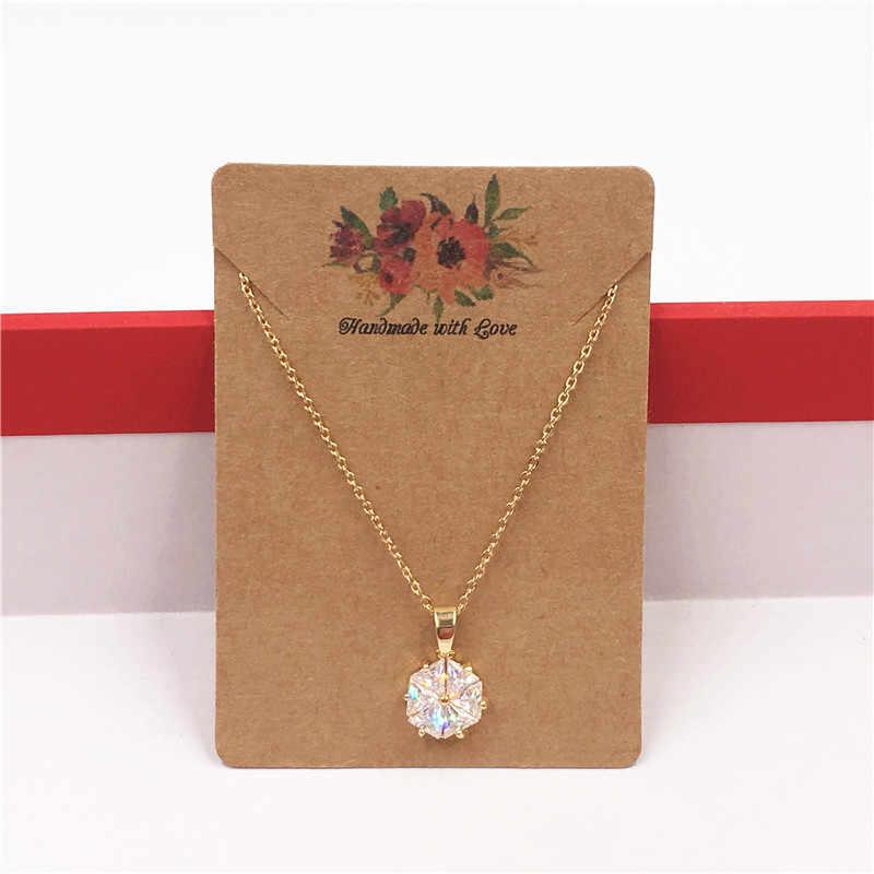 50 個紙ヴィンテージ花の宝石カード、ジュエリーハングタグジュエリーボックスネックレス/イヤリング/ヘアピン/アクセサリー包装