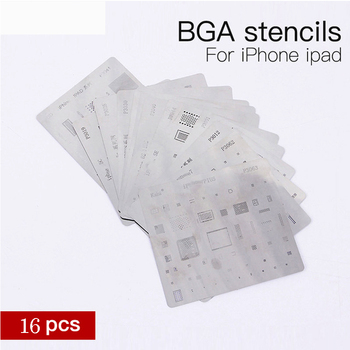 16 шт./лот IC Chip BGA набор трафаретов для iphone XS X 8 7 6s 6 plus SE 5S 5C 5 для iPad высокого качества