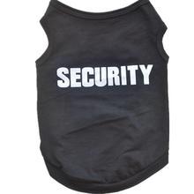 цена на Spring/Summer Pet Dog Vest T-Shirt Security Letter Dog Shirt XS-L Pet Clothes For Dogs Cats Puppy Dog Clothes Wholesale