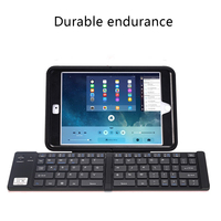 Black Portable Foldable Bluetooth Keyboard Compatible for iPhone X 8 7 6s Plus iPad Dropshipping