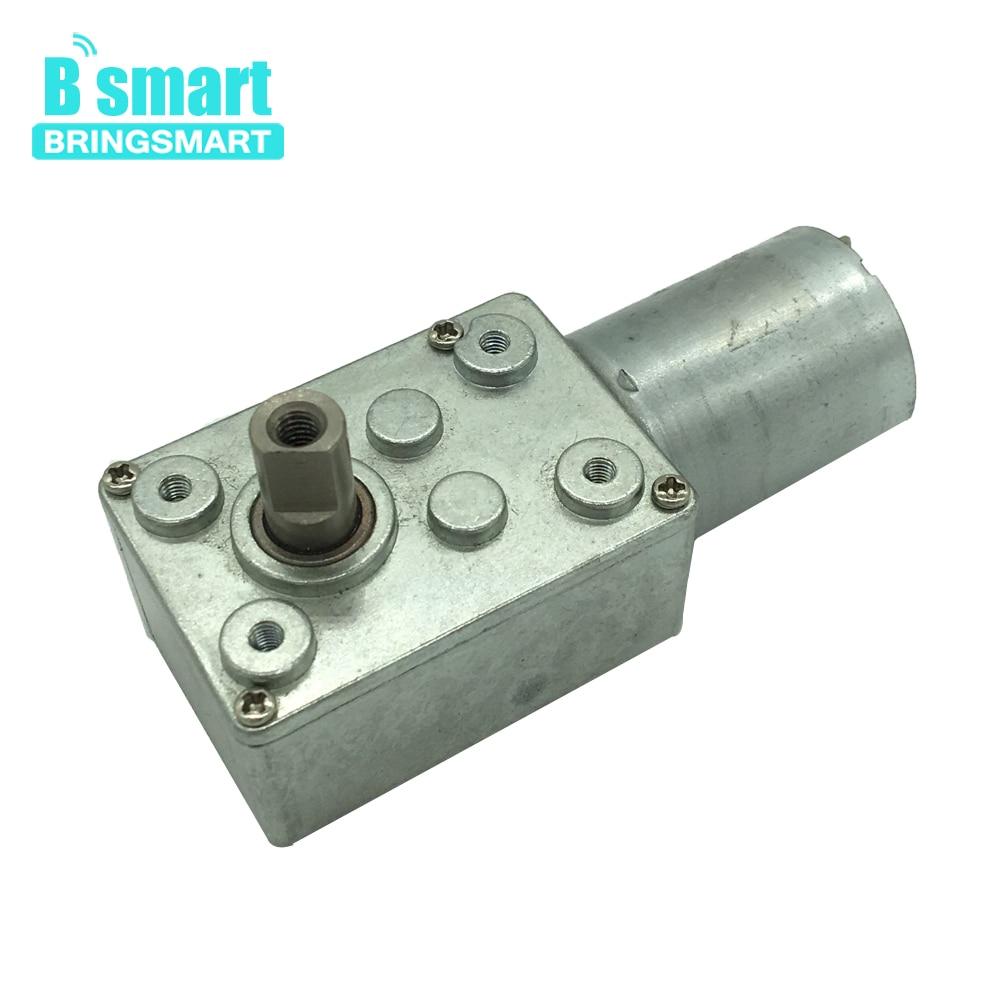 цена на Bringsmart JGY370-3000 DC Worm Geared Motor 2rpm 6V 12V Self-lock Mini DC Reduction Motor 1rpm 24V Reversed High Torque Motor