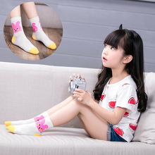 5Pairs / Lot Childrens Cartoon Bunny Socks Summer Autumn Mesh Cotton Baby Boys Girls Thin
