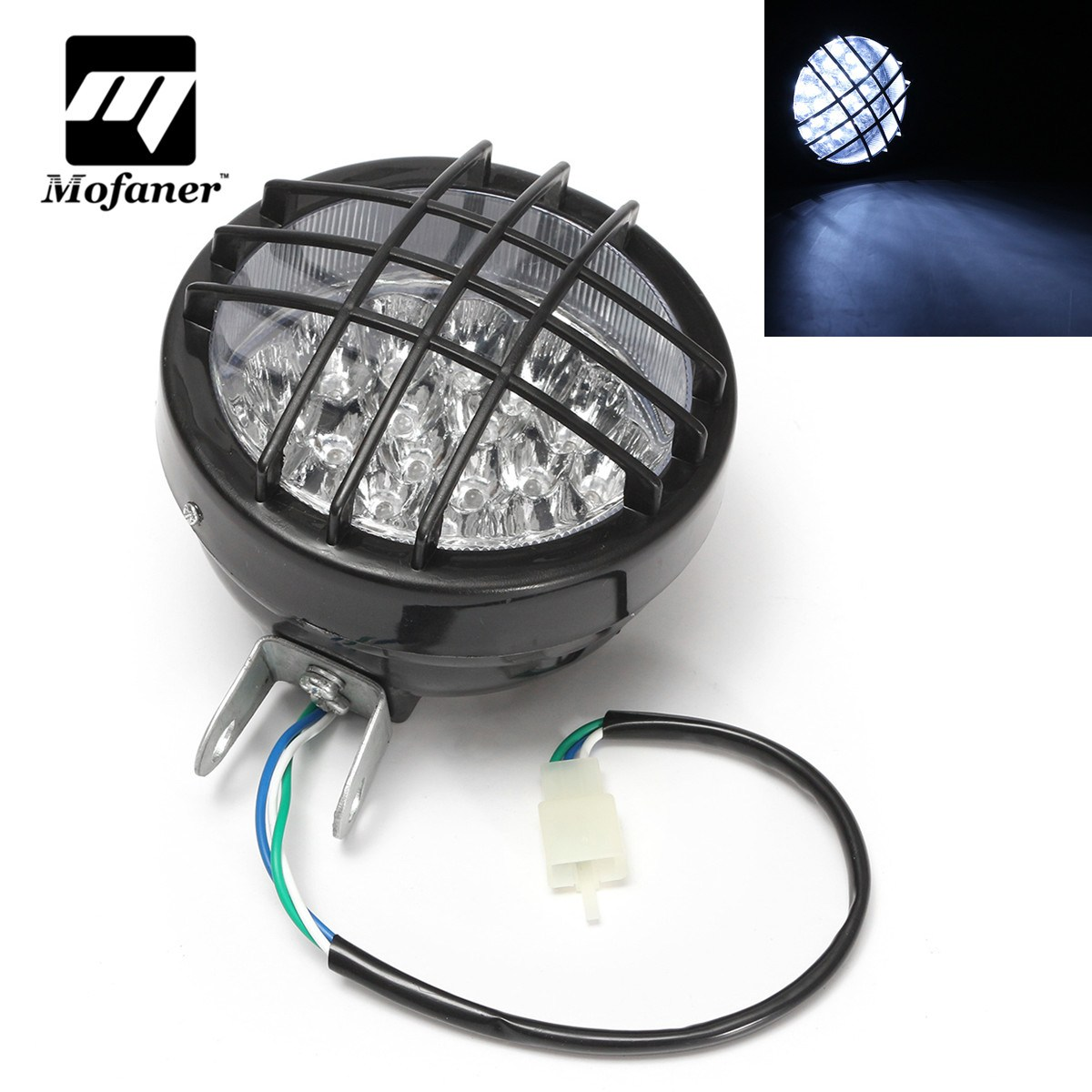 Mofaner 12 v Front LED Motorrad ATV Scheinwerfer Nebel Lampe Für ATV Quad 4 Wheeler Go Kart Roketa SunL Taotao