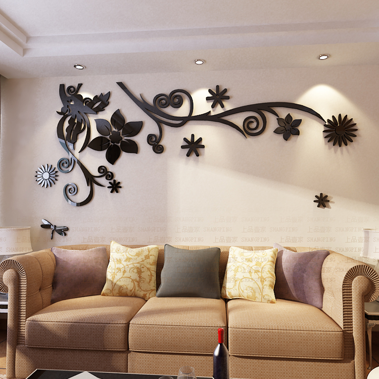 Անվճար առաքում 3D ծաղիկ Arcylic պատի - Տնային դեկոր - Լուսանկար 5