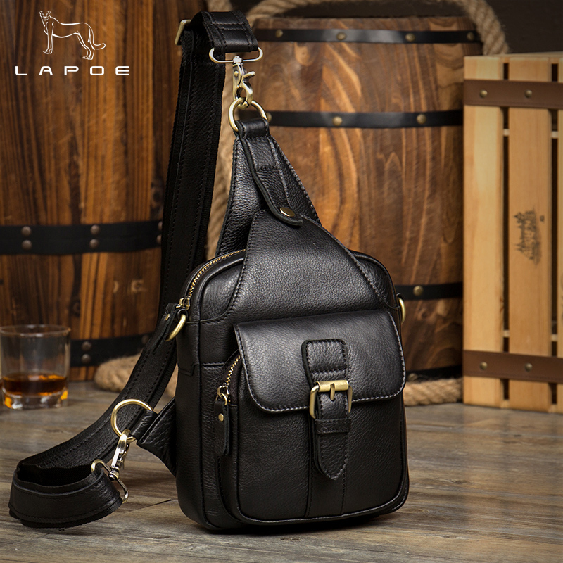Women Fashion Crossbody Bag Theftproof Rotatable Button Open Genuine Leather Chest Bags Women Shoulder Bags Chest Waist Pack jeep famous brand men chest bags theftproof magnetic button open fashion leather travel crossbody bag man messenger bag 8005