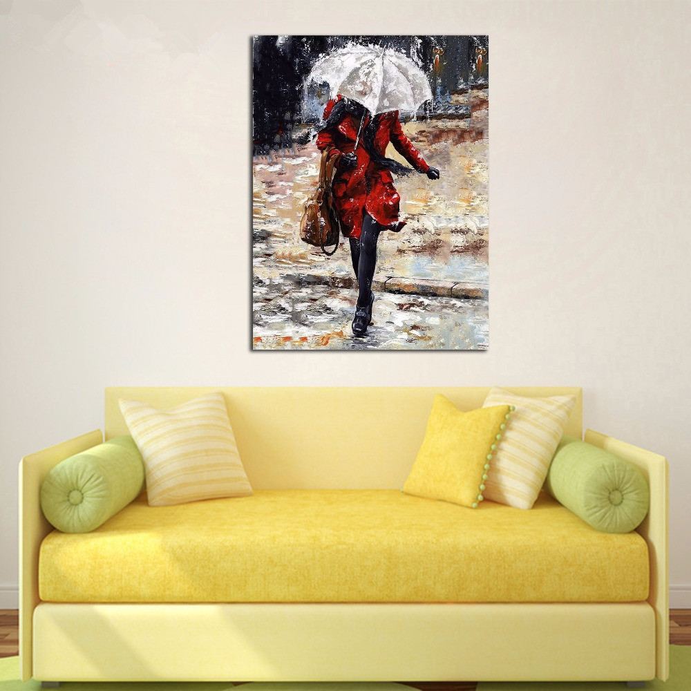 Oil painting paint by numbers diy canvas oil picture wall decor ...