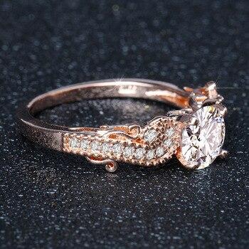 14K Gold Princess Engagement Diamond Ring for Women Peridot Anillos De Bizuteria Gemstone Bague Etoile Mystic Jewelry Rings 2019 3