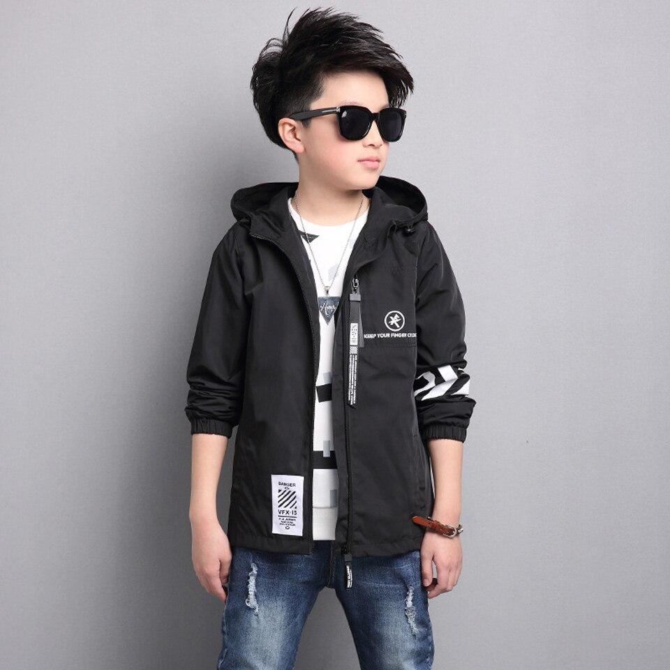 Куртка весна для маленьких мальчиков ветровка с капюшоном для маленьких девочек пальто 2018 Осень Дети с длинным рукавом Верхняя одежда Детс...