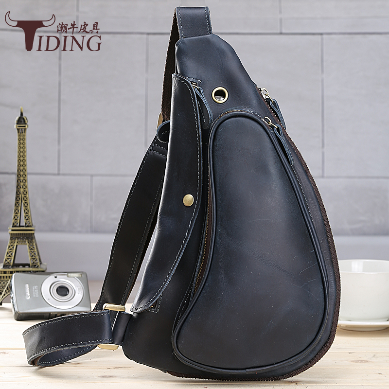 Genuine leather Waist Belt Bag Men Leather Shoulder Men Chest Bags Fashion Travel Crossbodys Bag Man Messenger Bag Male