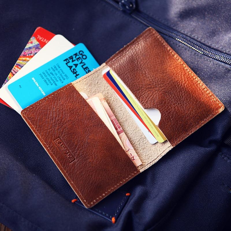 LANSPACE δερμάτινα κάτοχος κάρτας ανδρών μάρκα μικρές πιστωτικές κάρτες κάρτα μόδας κάτοχοι ταυτότητας