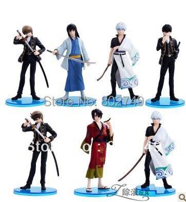 7pcs/lot Japanese Anime Gintama PVC Figure цена и фото