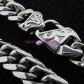 """8 """" - 40 """" colar e pulseira de prata de aço inoxidável Curb cadeia cubano jóias colar de pescoço"""