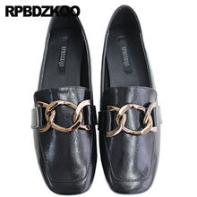 c6d64e5a3 Sapatos Rasos Preto Branco Mocassins Designer Chinês Vintage Metal Couro De  Patente Sapatos Baratos China Estilo