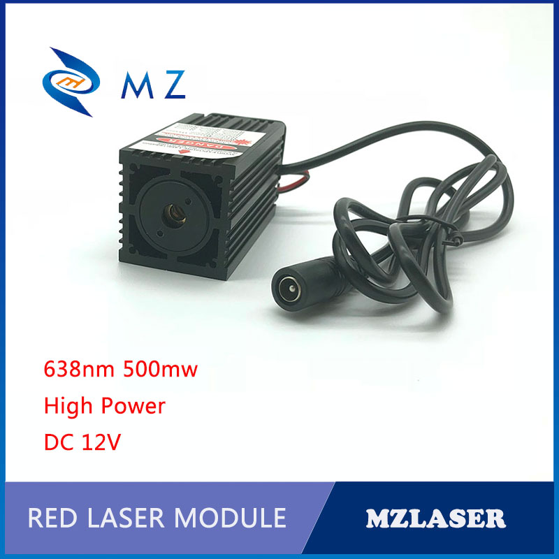 Laser Maze Laser 638nm 500mw Red Power Laser Module ACC Drives The Laser Module Fan To Dissipate Heat