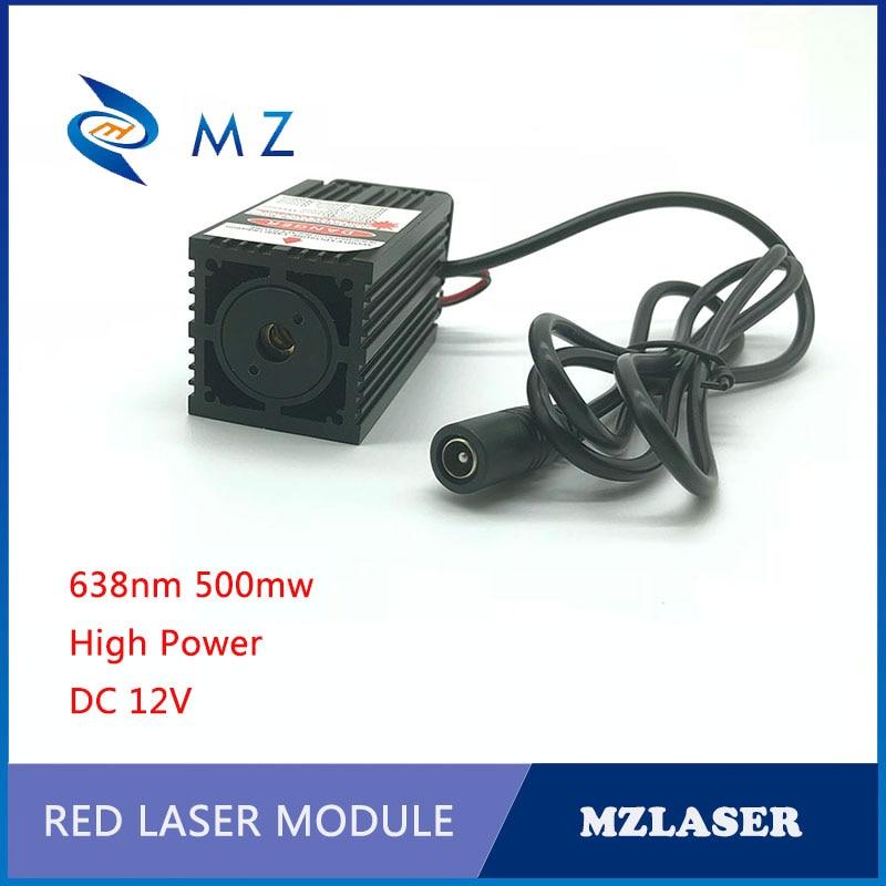 Laser maze laser 638nm 500mw red power laser module ACC drives the laser module fan to dissipate heat все цены